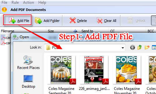 How to send email by using Internet E-mail Server (SMTP) with A-PDF