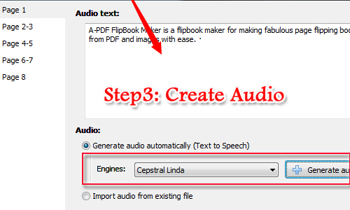 Create an audio digital magazine