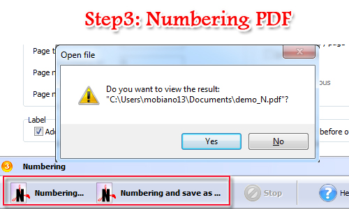 add label prefix before page number