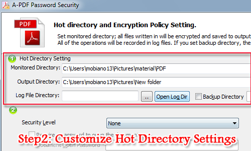 encrypt PDF files automatically