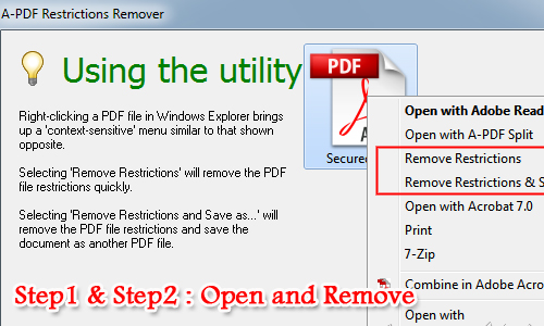 remove password and restrictions from protected PDF