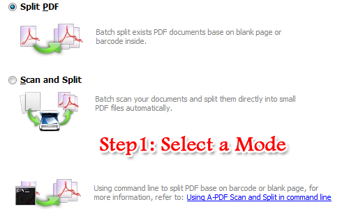 recognize blank page in PDF and set it as split tag