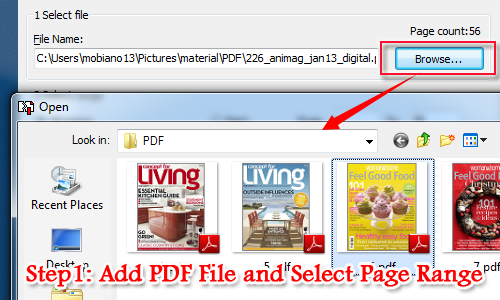 How can I split a PDF file into separated PDF files on Mac OS? [A