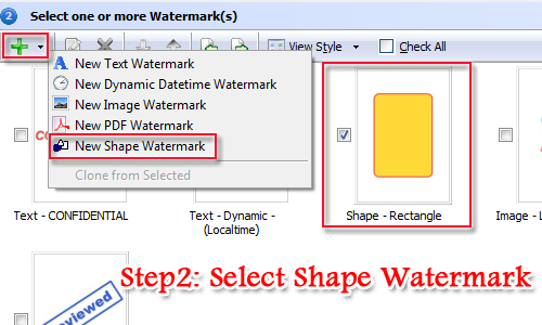 Add image or text watermark to PDF documents