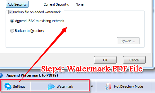 add a shape watermark to PDF