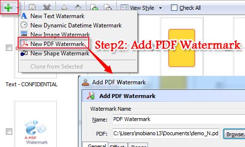 add a PDF watermark to PDF file