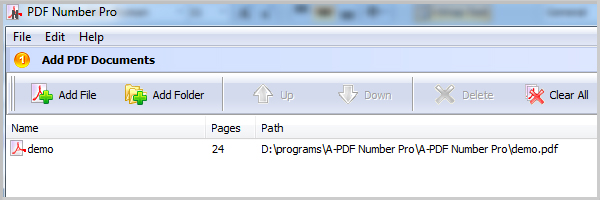 add PDF for numbering PDF pages