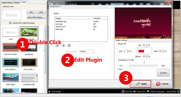 show plugin option