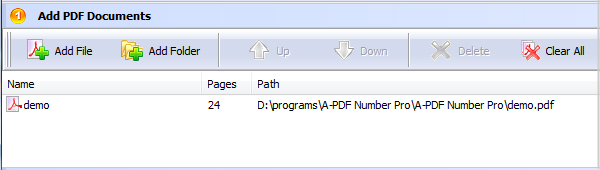 add PDF for page numbering