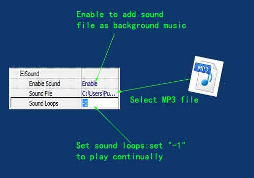 set sound loops as forever play