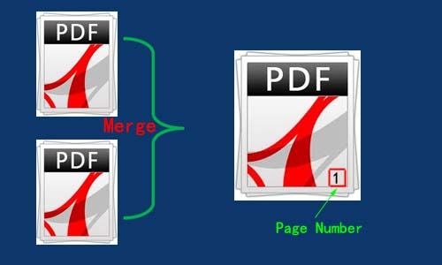 add page number to merged pdf files without page number