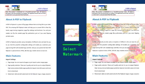 Can I just add watermark to custom pages of PDF files? [A-PDF com]
