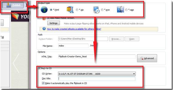 How to burn flipbook onto CD for sharing offline easily? [A-PDF com]