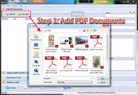 How to batch sending PDF files automatically with recipient