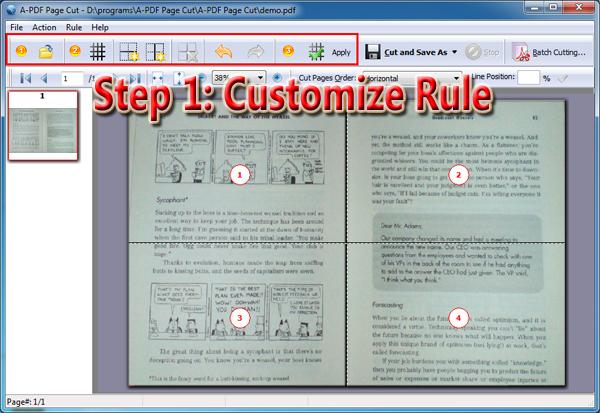 customize cutting rule