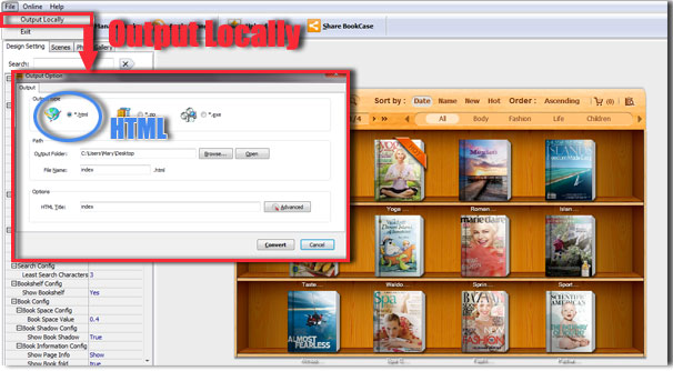 convert bookshelf to pdf 1