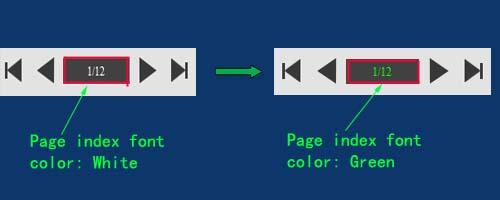 change color for page index font color