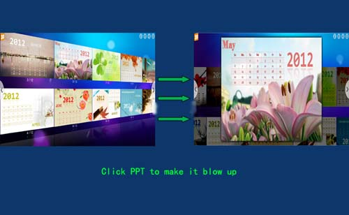 how to zoom in on a ppt slide amongst flash slideshow with just a