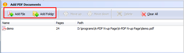 add PDF for page composing
