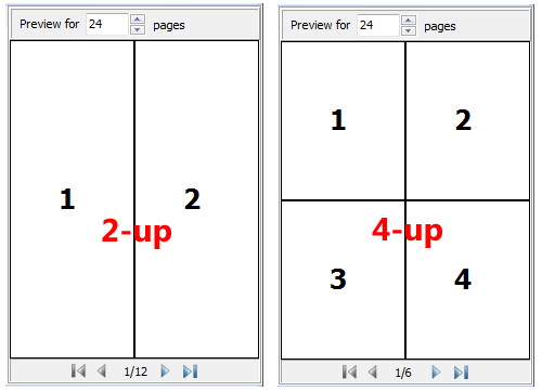 A/B mode for PDF page composing