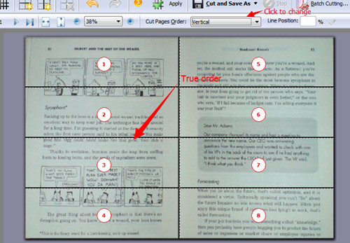 cut PDF page averagely into 8 parts with A-PDF Page Cut3