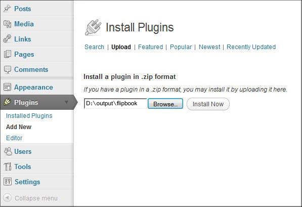 How to put flipping digital brochure on WordPress website? [A-PDF com]