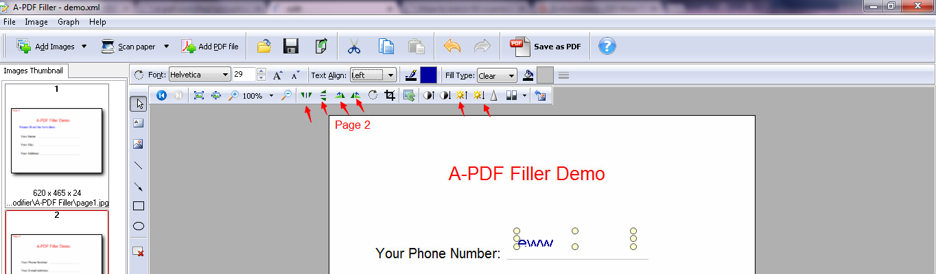 how to rotate scanned pdf