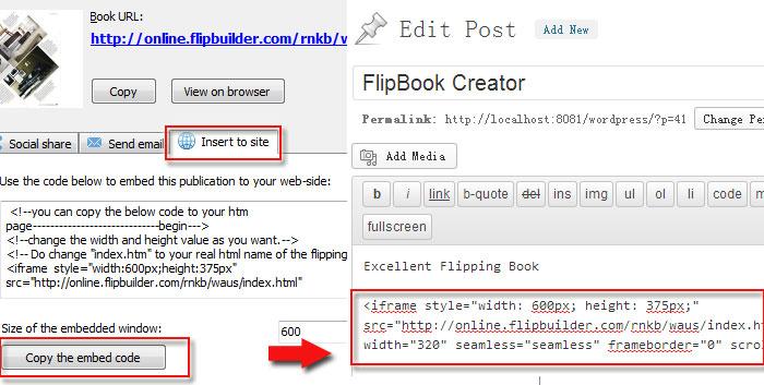Insert Flip Digital Publication into Wordpress Website in