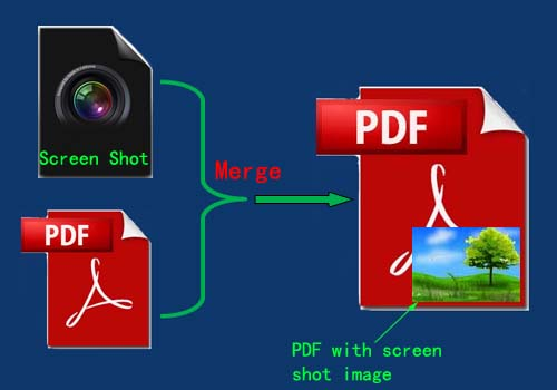 add screen shot images to merged pdf files