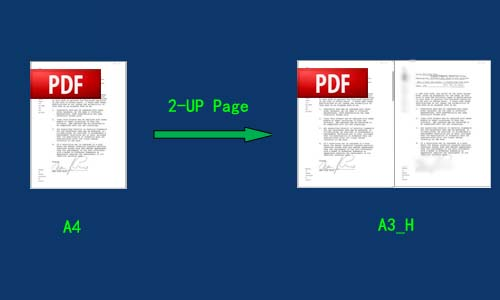 define output proportions for n-up page PDF