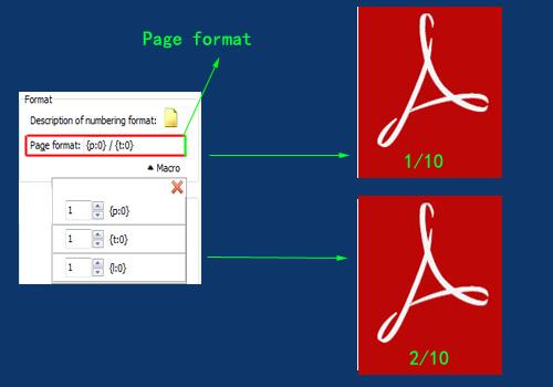 define page number format