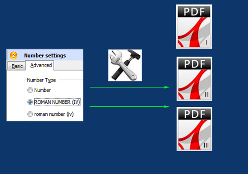 choose page number type for the PDF: Arabic or Roman