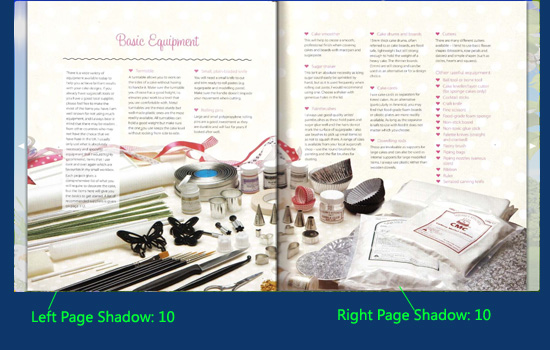 page shadow setting