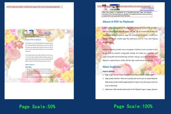 set page scale for watermarked pdf