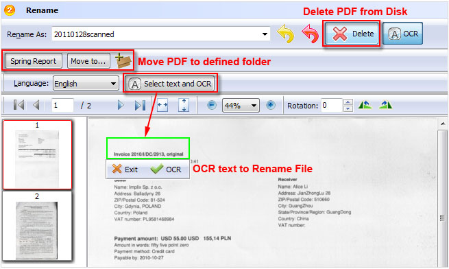 how to delete text in pdf online