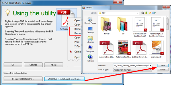 remove pdf restriction