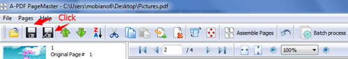 reorder PDF page manually while using A-PDF Page Master3