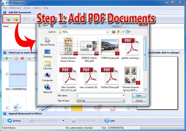add PDF to set hyperlinked watermark
