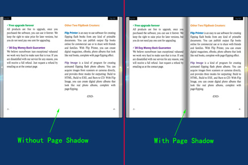 set page shadow opacity