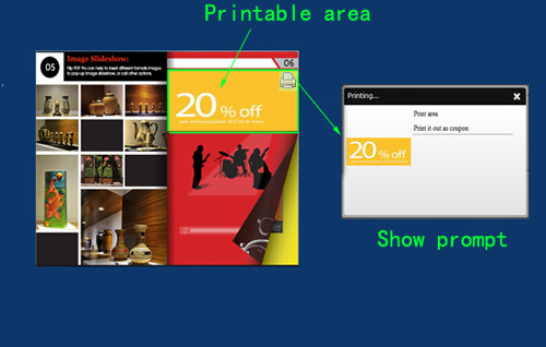 add prompt for printabel area to inform readers