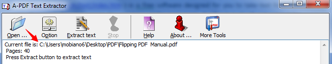 take text from PDF file easily by using A-PDF Text Extractor1