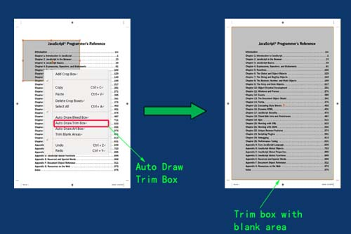 crop pdf with trim box