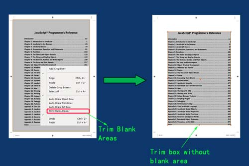 crop pdf and trim blank area