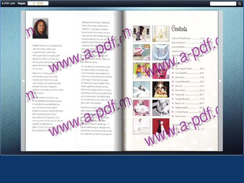 add watermark for the flip book to show identity