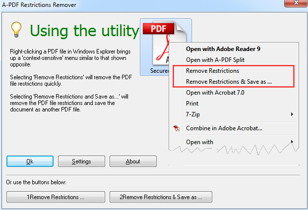 Freeware remover pdf restriction